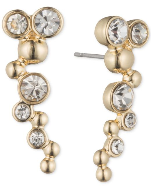Lonna & Lilly - Metallic Gold-tone And Crystal Bubble Ear Cuff - Lyst