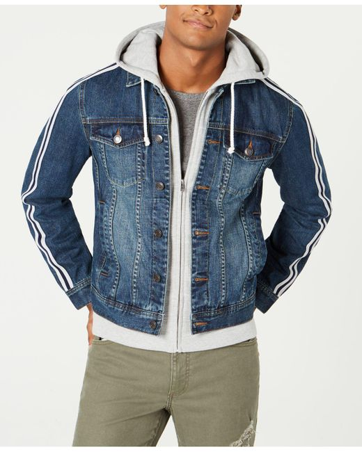 American Rag - Blue Layered Hoodie & Denim Jacket, Created For Macy's for Men - Lyst