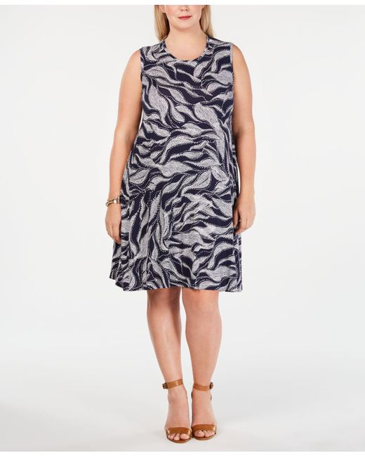 Lyst - Style & Co. Plus Size Printed Swing Dress, Created For Macy\'s ...