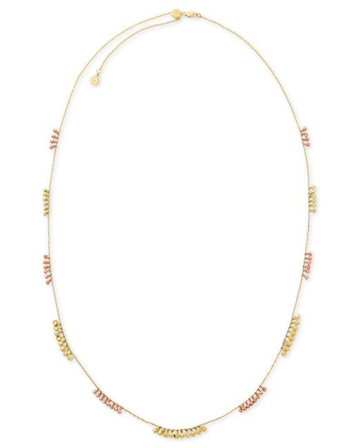 Michael Kors | Metallic Two-tone Nugget Bead Long Necklace | Lyst