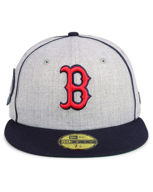 new concept bec4d 83618 ... KTZ - Multicolor Boston Red Sox Stache 59fifty Fitted Cap for Men - Lyst  ...