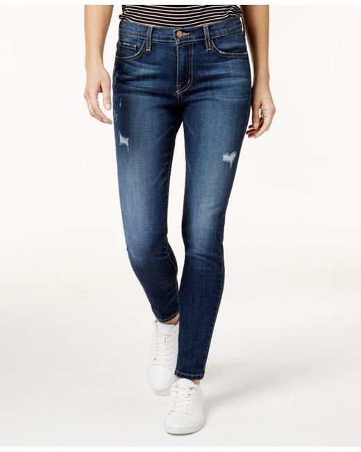Flying Monkey - Blue Ripped Skinny Jeans - Lyst