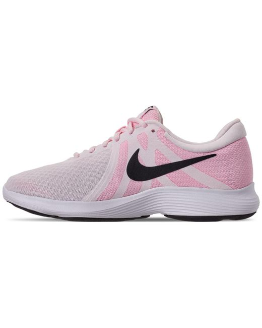 eb607dbc8f73 ... Nike - Pink Revolution 4 Running Sneakers From Finish Line - Lyst ...