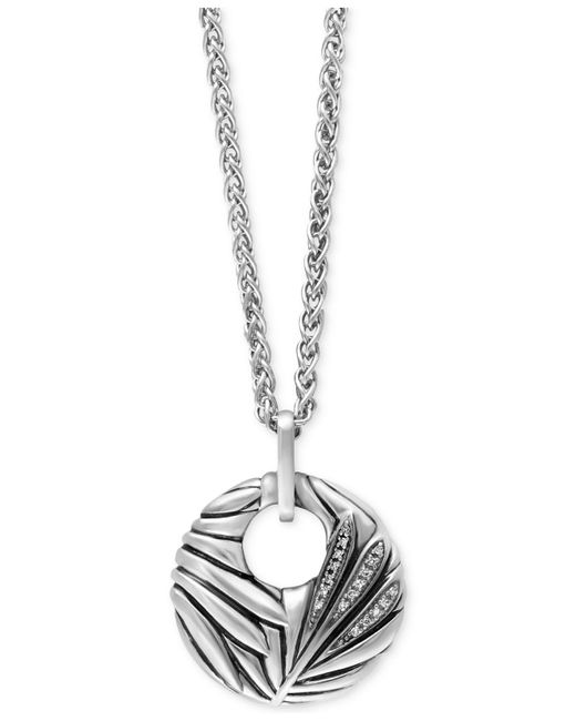 Effy Collection - Metallic Diamond Accent Pendant Necklace In Sterling Silver - Lyst