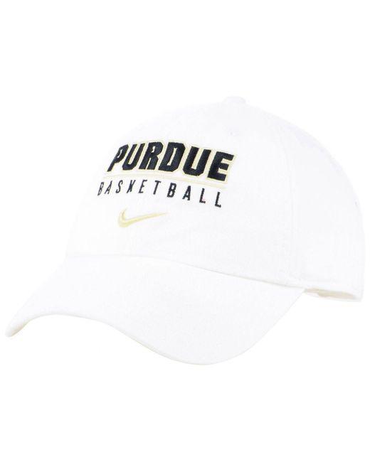 d56d1238404 Nike - White Purdue Boilermakers Campus Sport Adjustable Cap for Men - Lyst  ...