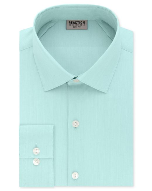 Kenneth Cole Reaction - Purple Slim-fit Techni-cole Flex Collar Solid Dress Shirt for Men - Lyst