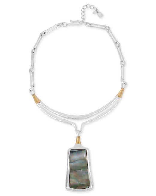 Robert Lee Morris - Metallic Sculptural Pendant Necklace - Lyst