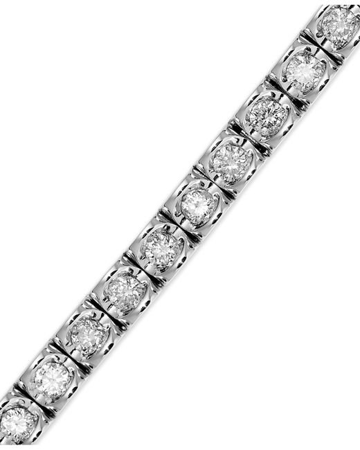 Macy's | White Diamond Bracelet In 14k Gold (2 Ct. T.w.) | Lyst