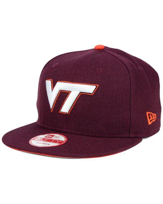 new styles b8f3c 823a4 KTZ - Purple Virginia Tech Hokies Core 9fifty Snapback Cap for Men - Lyst  ...