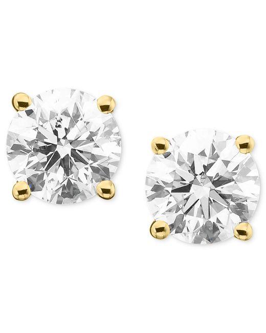 Macy's - Metallic Diamond Stud Earrings In 14k White Gold (1 Ct. T.w.) - Lyst