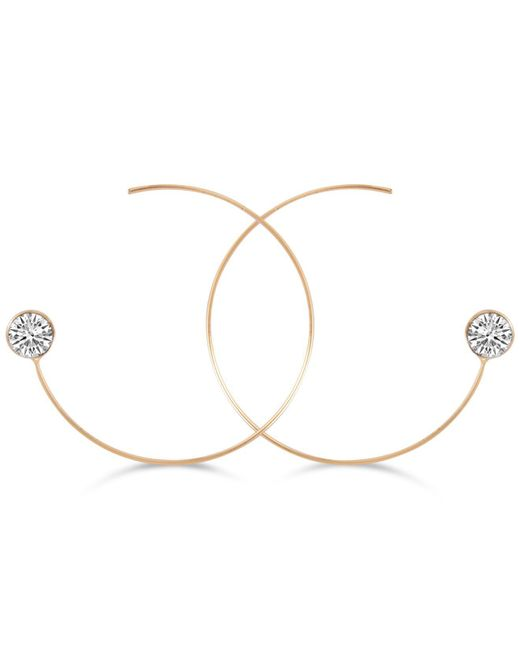Guess | Metallic Crystal Threader Hoop Earrings | Lyst