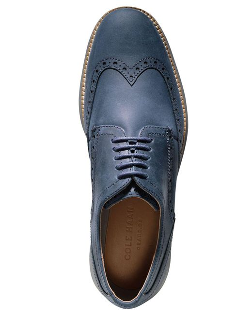 0f37f17d354eb Lyst - Cole Haan Men s Original Grand Wing Oxfords in Blue for Men