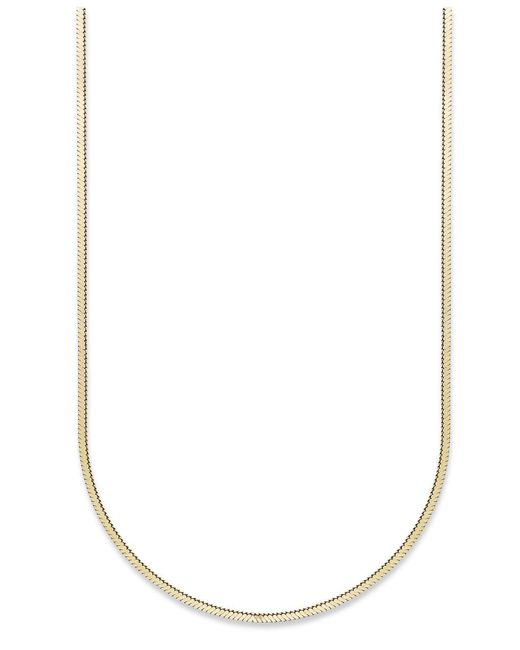 Giani Bernini | Metallic 24k Gold Over Sterling Silver Necklace, Thin Snake Chain Necklace | Lyst