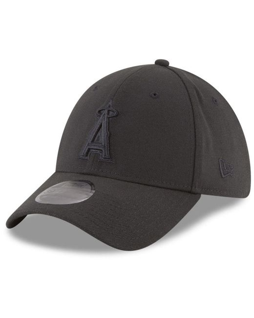 check out 4d712 dd2cf ... team color tech fuse 39thirty cap ffe7e cd7ad  coupon code for ktz los  angeles angels blackout 39thirty cap for men lyst 36876 cee95