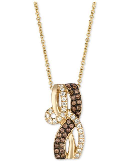 """Le Vian - Metallic Chocolatier® Diamond Loop 18"""" Pendant Necklace (1/3 Ct. T.w.) In 14k Gold - Lyst"""