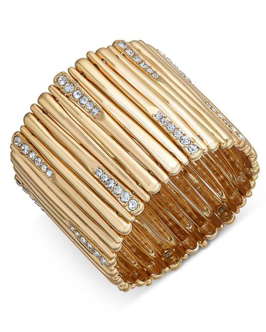 INC International Concepts | Metallic Pavé Stick Stretch Bracelet | Lyst