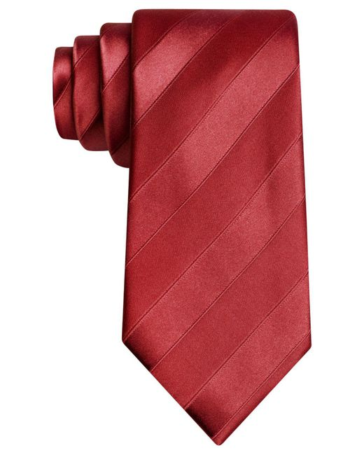Sean John | Red Wilson Solid Tie for Men | Lyst