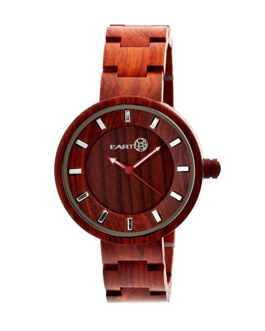 Earth Wood - Root Wood Bracelet Watch Red 41mm - Lyst