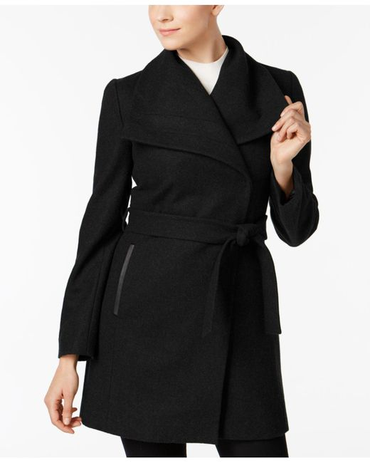 INC International Concepts - Black Wool-blend Oversize-collar Walker Coat - Lyst