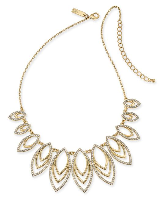 """INC International Concepts - Metallic I.n.c. Navette Statement Necklace, 18"""" + 3"""" Extender, Created For Macy's - Lyst"""