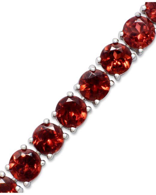Macy's - Red Sterling Silver Bracelet, Garnet (20 Ct. T.w.) - Lyst