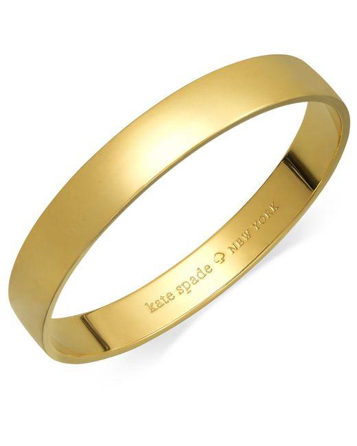 Kate Spade | Metallic 12k Gold-plated Idiom Bangle Bracelet | Lyst