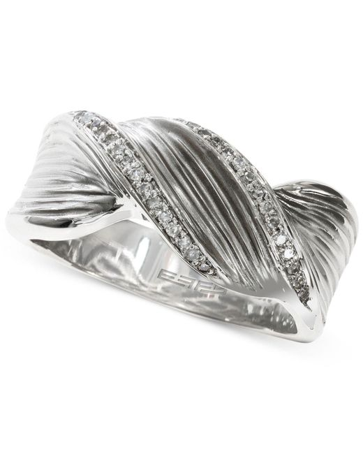 Effy Collection - Metallic Balissima By Effy Twisted Diamond Ring (1/6 Ct. T.w.) In Sterling Silver - Lyst