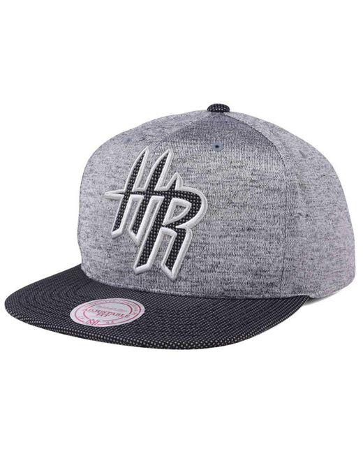 huge selection of dda30 55512 ... free shipping mitchell ness gray space knit snapback cap for men 0b552  32fe2