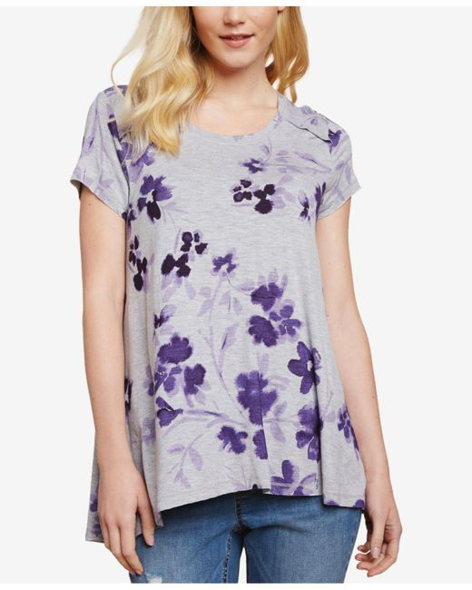 Jessica Simpson - Purple Pull-over Nursing T-shirt - Lyst