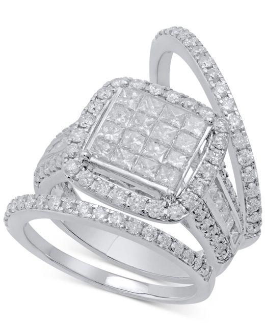 Macy's - Metallic Diamond 3-pc. Bridal Set (2-1/2 Ct. T.w.) In 14k White Gold - Lyst