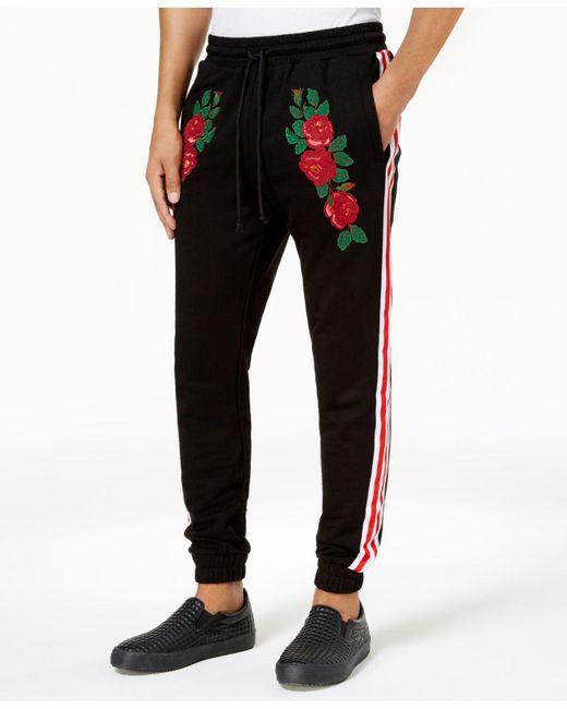 Reason | Black Men's Embroidered Jogger Pants for Men | Lyst