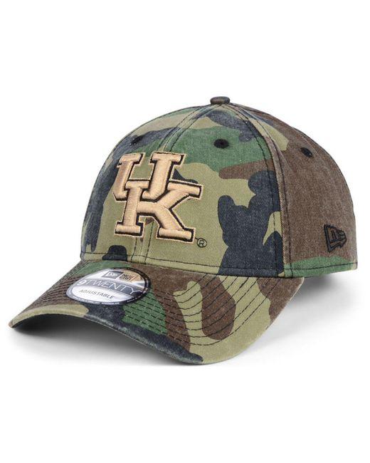 check out 023c6 16ee4 KTZ - Green Kentucky Wildcats Woodland Classic Twill 9twenty Strapback Cap  for Men - Lyst ...