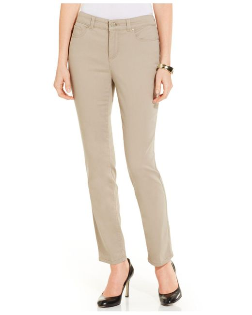 Charter Club - Natural Jeans, Modern Straight-leg Ankle, Saturated Wash - Lyst