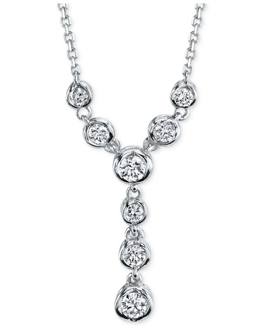 Macy's - Metallic Sirena Diamond Lariat Necklace (1/4 Ct. T.w.) In 14k White Or Yellow Gold - Lyst