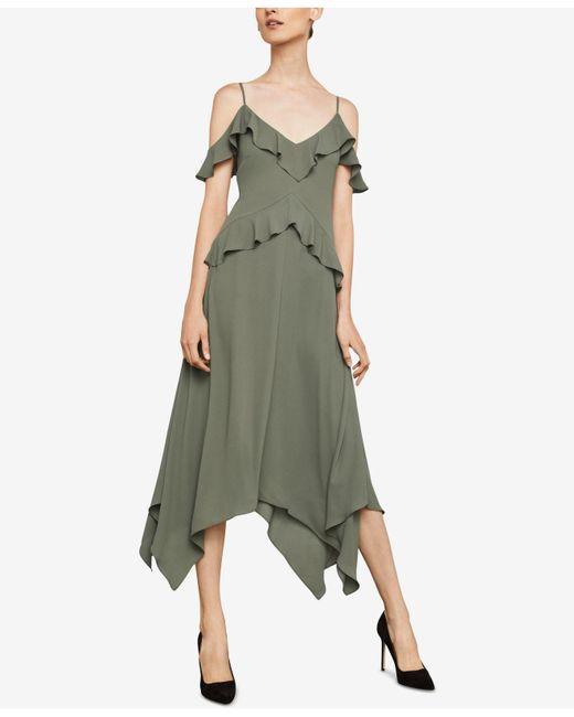 BCBGMAXAZRIA - Green Lissa Handkerchief-hem Slip Dress - Lyst