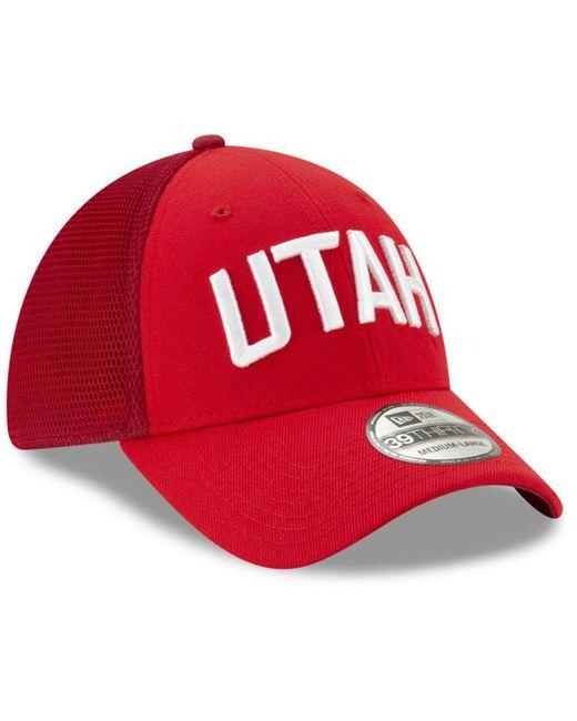 size 40 92e53 61fe7 ... KTZ - Red Utah Jazz City Series 39thirty Cap for Men - Lyst ...