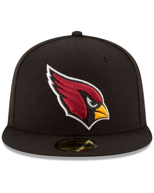 new concept ee461 20d7c ... KTZ - Black Arizona Cardinals Team Basic 59fifty Cap for Men - Lyst ...