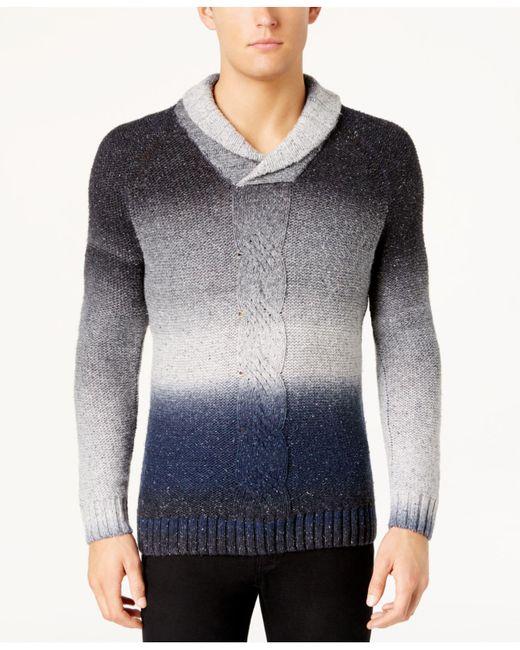 INC International Concepts | Blue Men's Ombré Shawl-collar Sweater for Men | Lyst