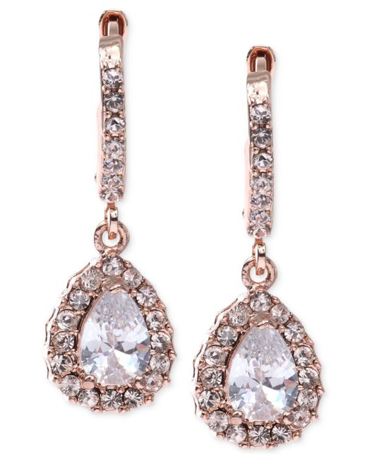 Givenchy | Pink Rose Gold-tone Silk Teardrop Earrings | Lyst