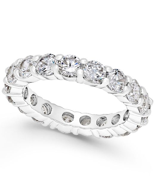 Charter Club - Metallic Crystal All-around Ring - Lyst