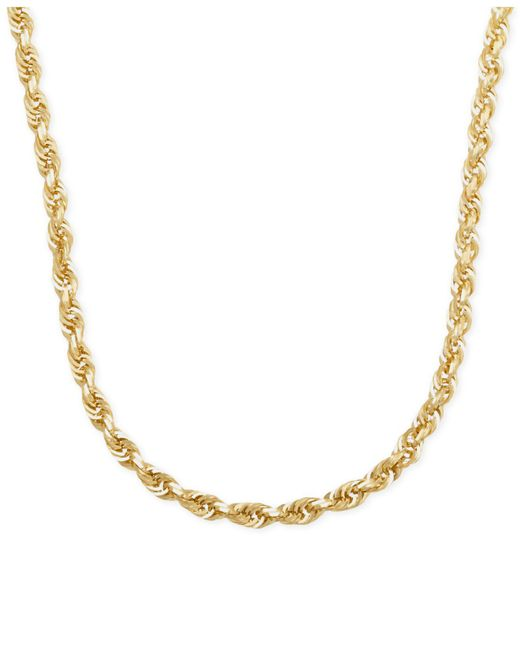 """Macy's - Metallic Rope Chain 22"""" Necklace In 14k Gold - Lyst"""