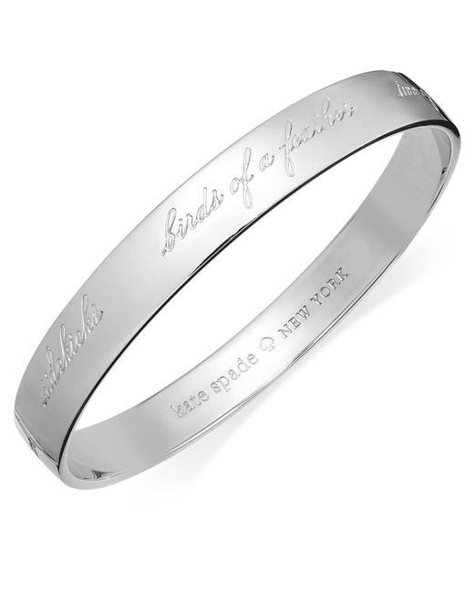 Kate Spade - Metallic Bracelet, 12k Gold-plated Bridesmaid Engraved Idiom Bangle Bracelet - Lyst
