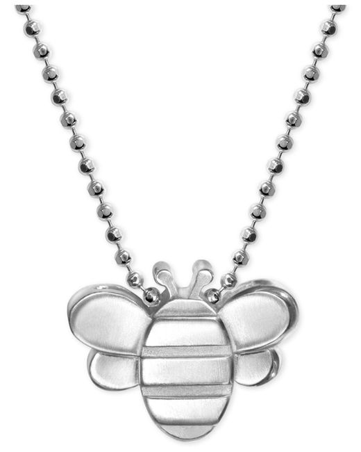 Alex Woo - Metallic Bumble Bee Pendant Necklace In Sterling Silver - Lyst