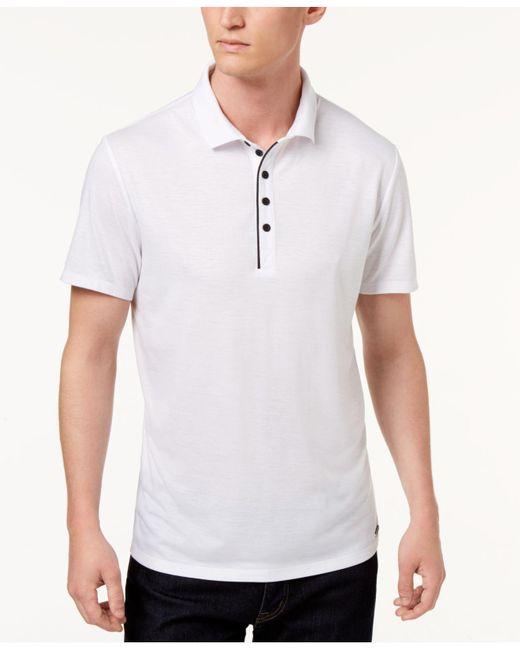Guess - White Mason Polo for Men - Lyst