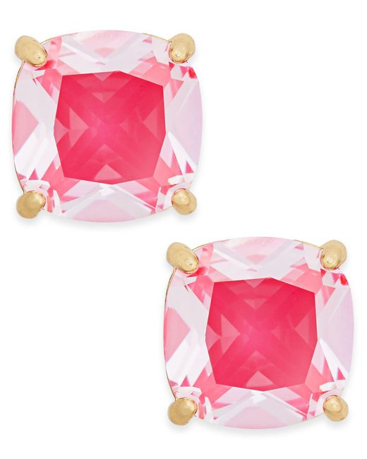 Kate Spade | Pink Gold-tone Aqua Crystal Stud Earrings | Lyst