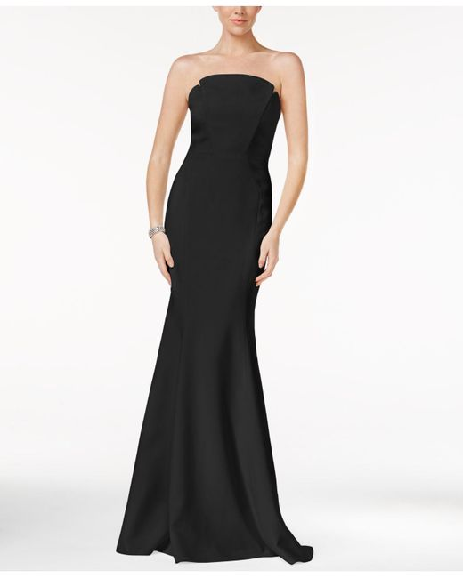 JILL Jill Stuart - Black Strapless Mermaid Gown - Lyst