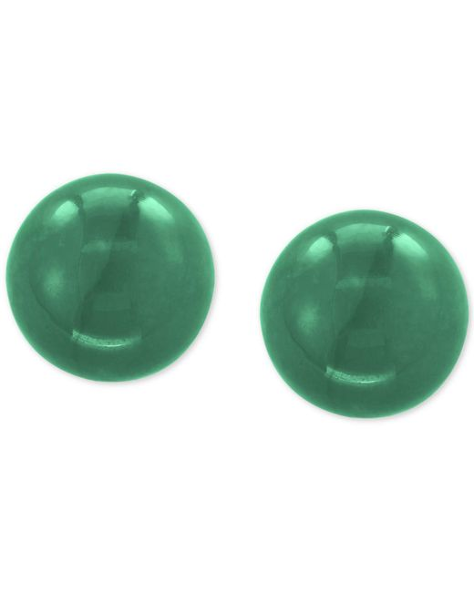 Effy Collection - Multicolor Effy® Jade (10mm) Stud Earrings In 14k Gold - Lyst
