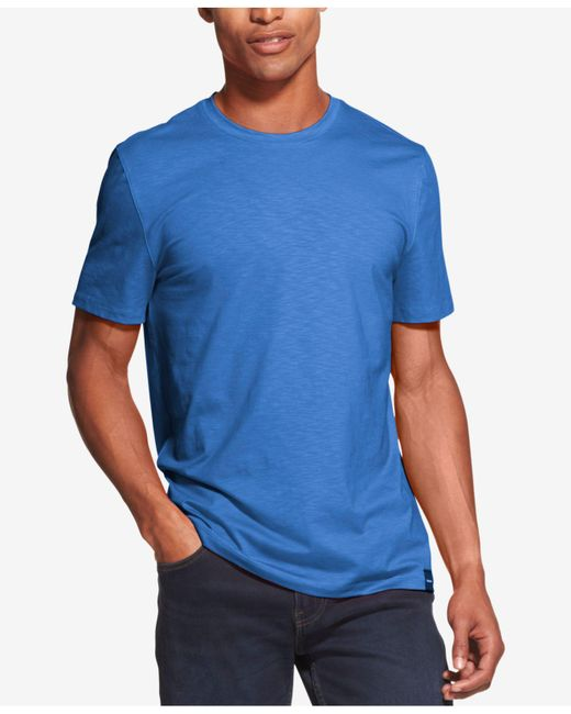 DKNY - Blue Mercerized Solid T-shirt, Created For Macy's for Men - Lyst