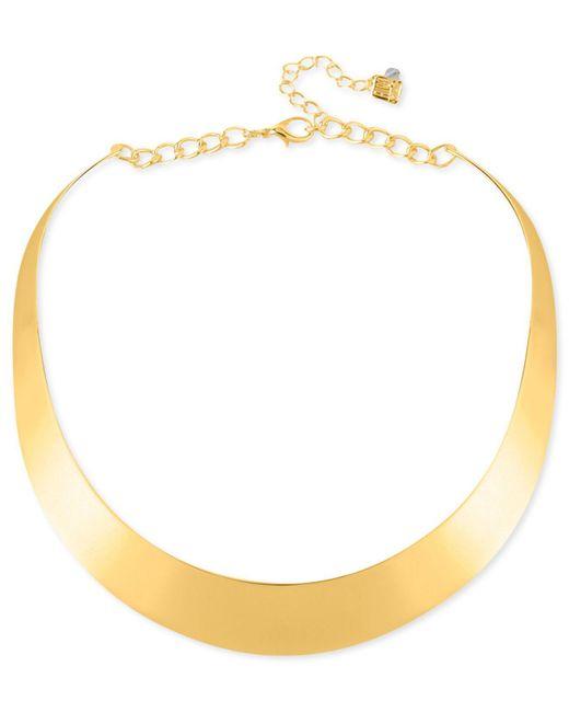 Robert Lee Morris | Metallic Necklace, Gold-tone Half-moon Collar Necklace | Lyst