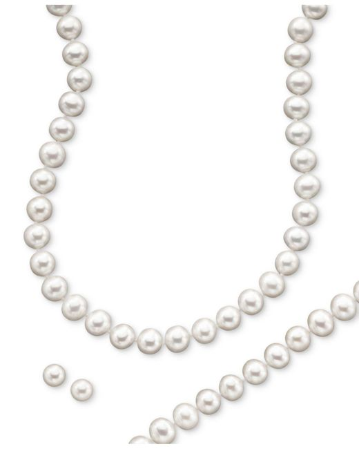 Macy's | Multicolor 14k Gold Cultured Freshwater Pearl Necklace, Earring & Bracelet Set | Lyst